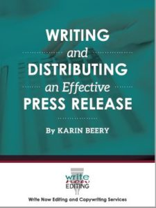 Karin Beery's Writing and Distributing an Effective Press Release
